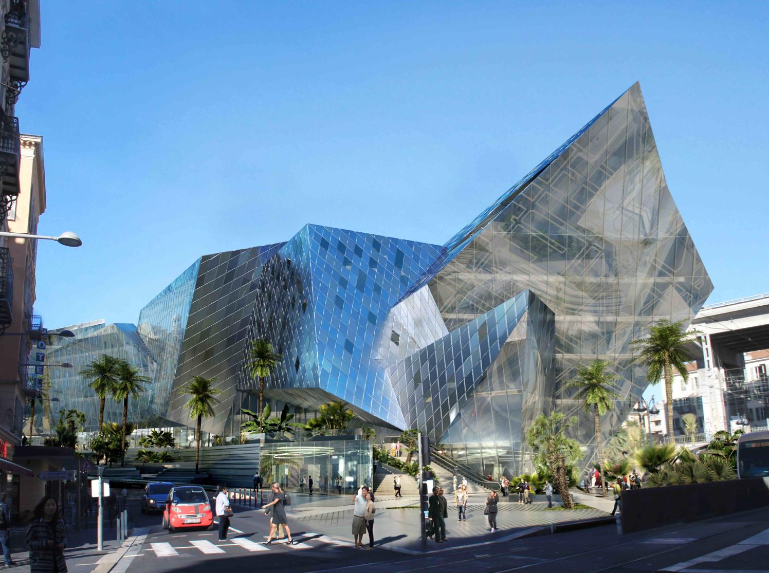 La Compagnie de Phalsbourg et FONDIMMO sont les lauréats du concours de la Gare Thiers à Nice avec le projet Iconic ! pour 18.300m2 SDP avec l'architecte Daniel LIBESKIND